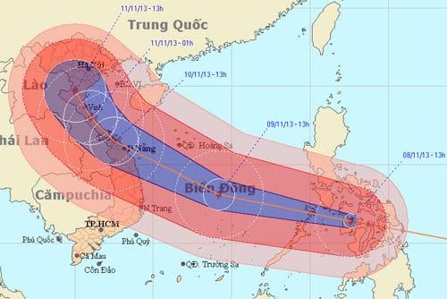 thống kê các cơn bão đổ bộ vào Việt Nam