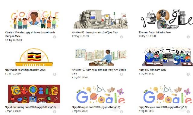 trò chơi phổ biến về hình tượng trưng của google